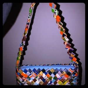Purse made from candy 🍭 wrappers 👜 so unique